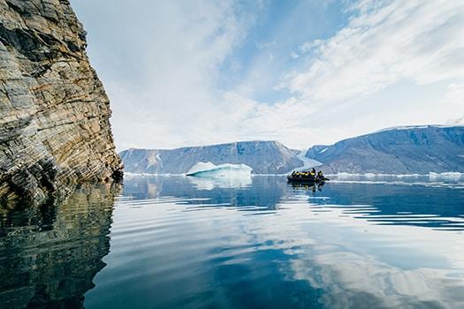 East Greenland zodiac cruise