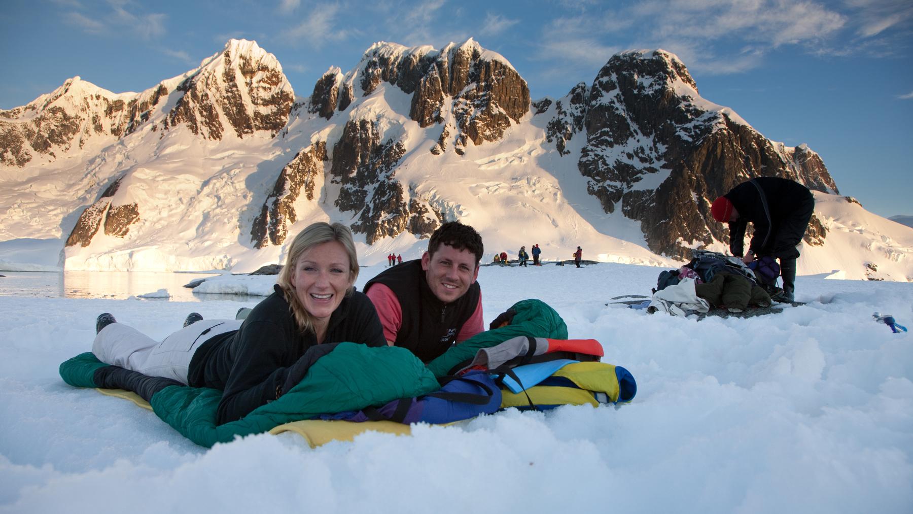 Ice camping in Antarctica